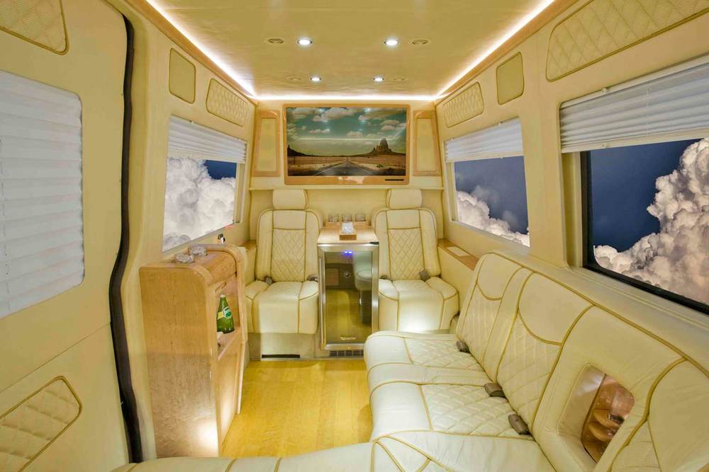 Mercedes Sprinter Van Shown with luxury CEO conversion