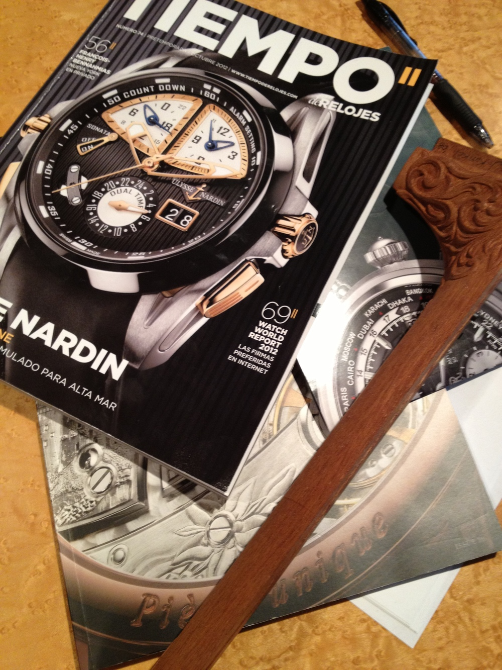 we're always combing through watch mags.  we often find ourselves inquiring on the wristpieces of guests to the Custom Shop.