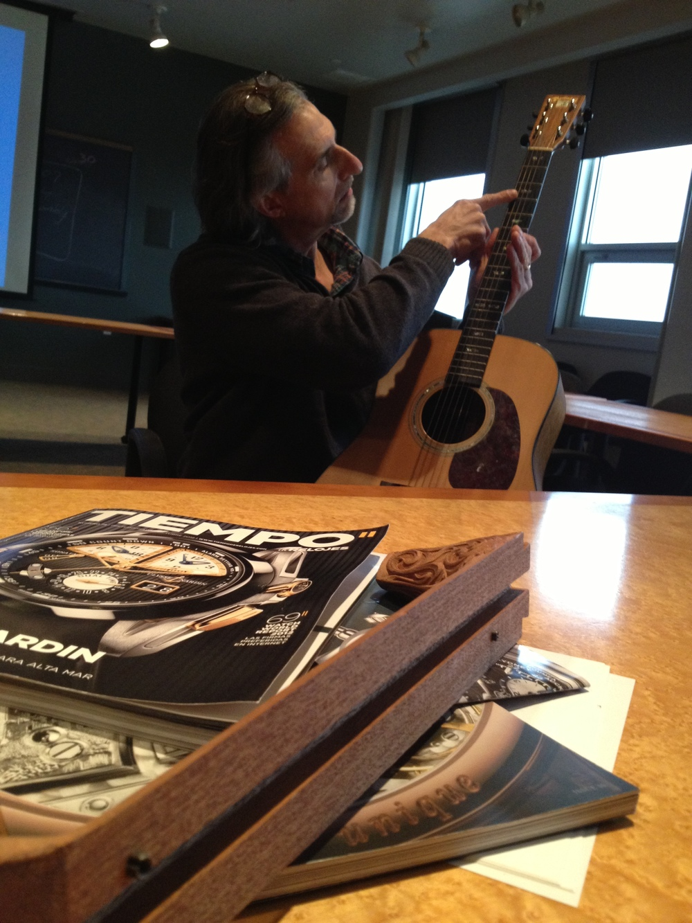 Robert Goetzl brainstorms the inclusion of special components and materials across the guitar platform.