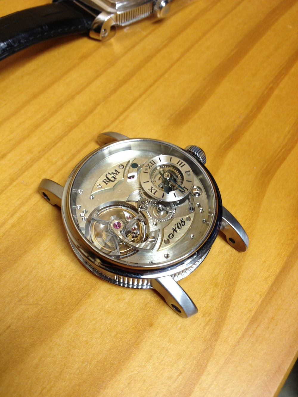 Finished examples of RGM's bespoke movement are art in motion- pure and simple.
