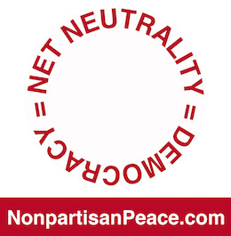 Net Neutrality = Democracy @Nonpartisan Peace dotcom red.jpg