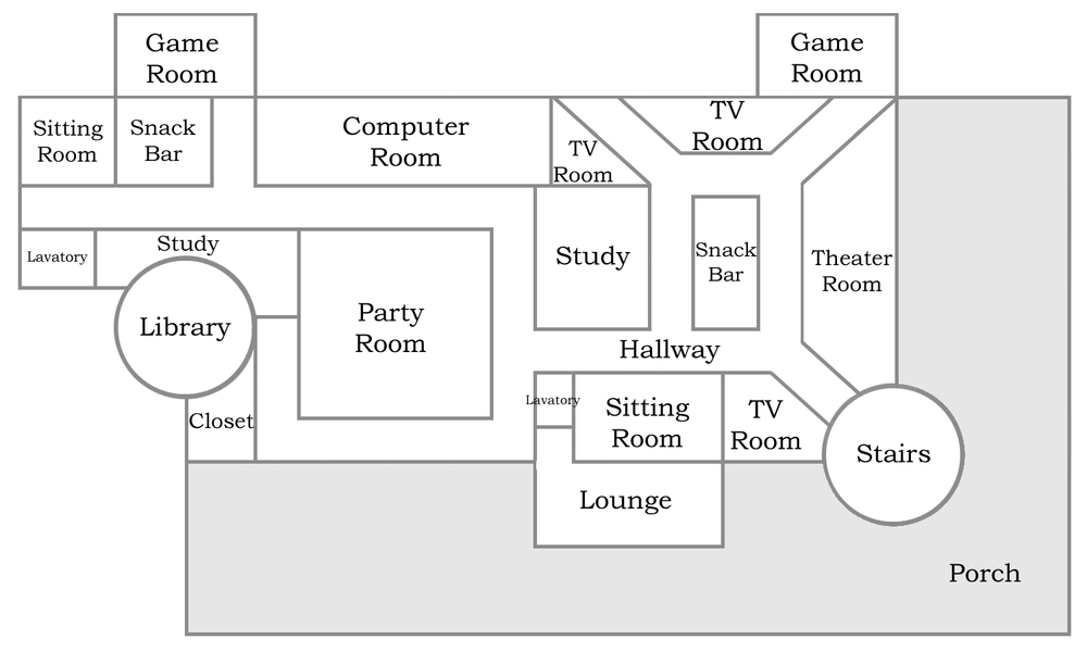 Floor plan for the second floor of BFC Stronghold