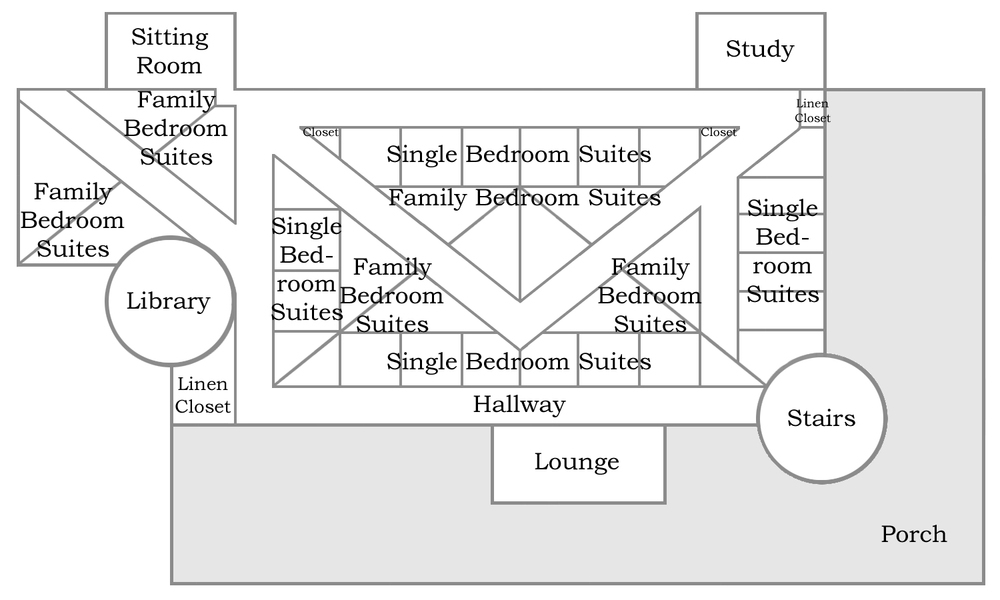 Floor plan for the third floor of BFC Stronghold.