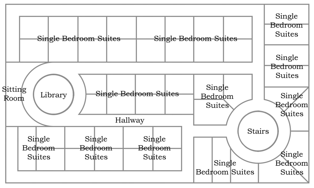 Floor plan for the first lower floor of BFC Stronghold.
