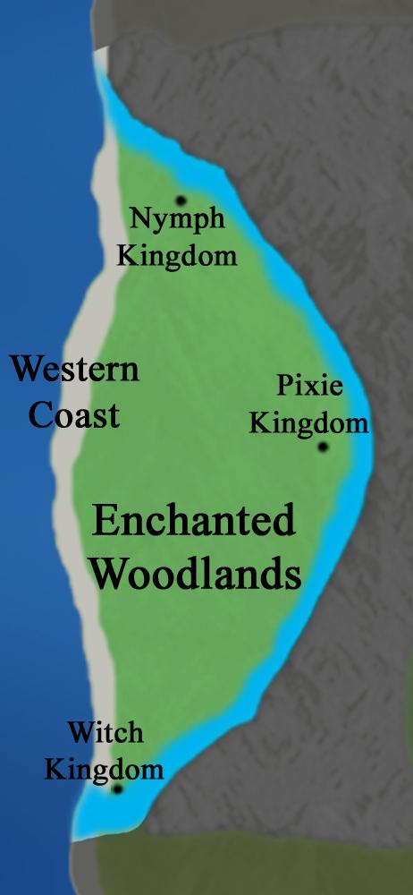 Main Continent:  Enchanted Woodlands