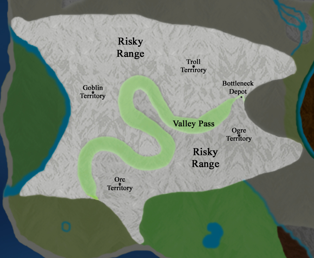 Main Continent:  Risky Range