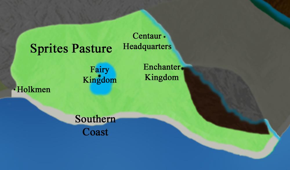 Main Continent:  Sprites Pasture