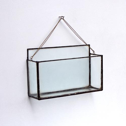 Large Horizontal Rectangle Terrarium Vase Window Box Copper Torch