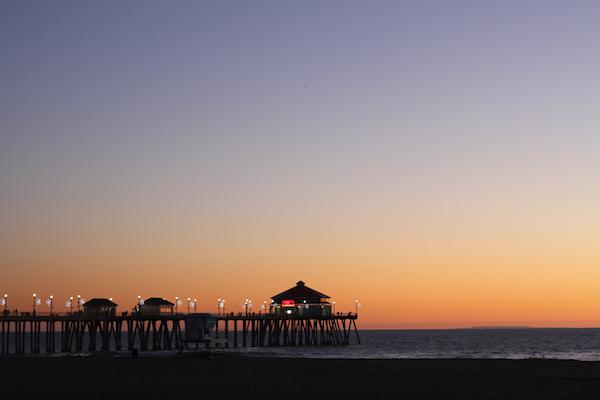 Huntington-Beach-Pier-at-Dusk