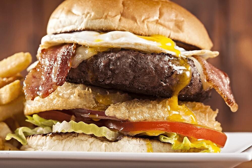Burger at The Hangout Seal Beach