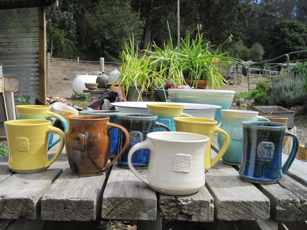 Harley Farms jumpy goat mugs