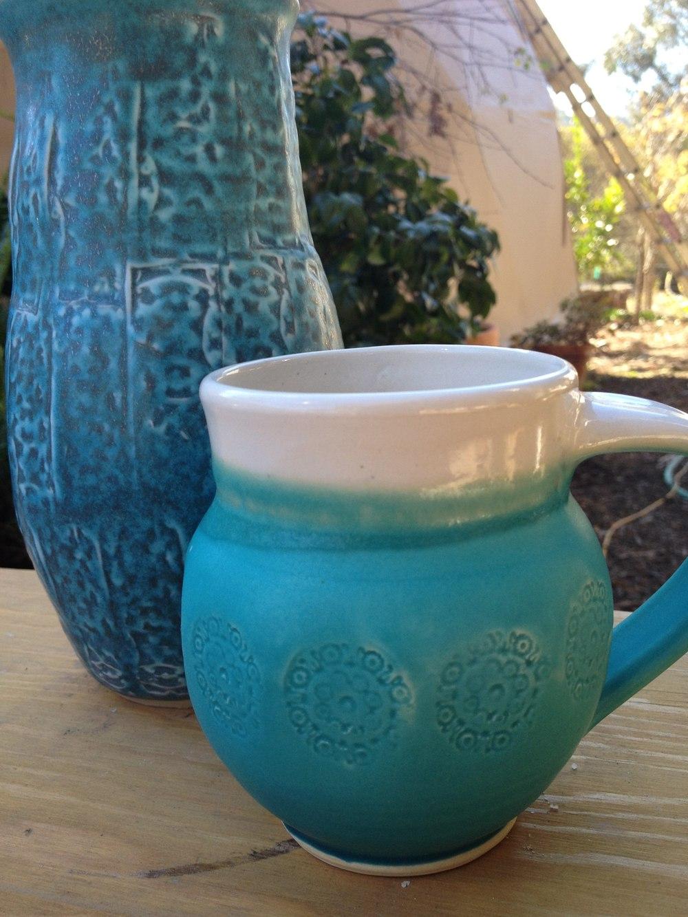 Indo-inspired vase & mug