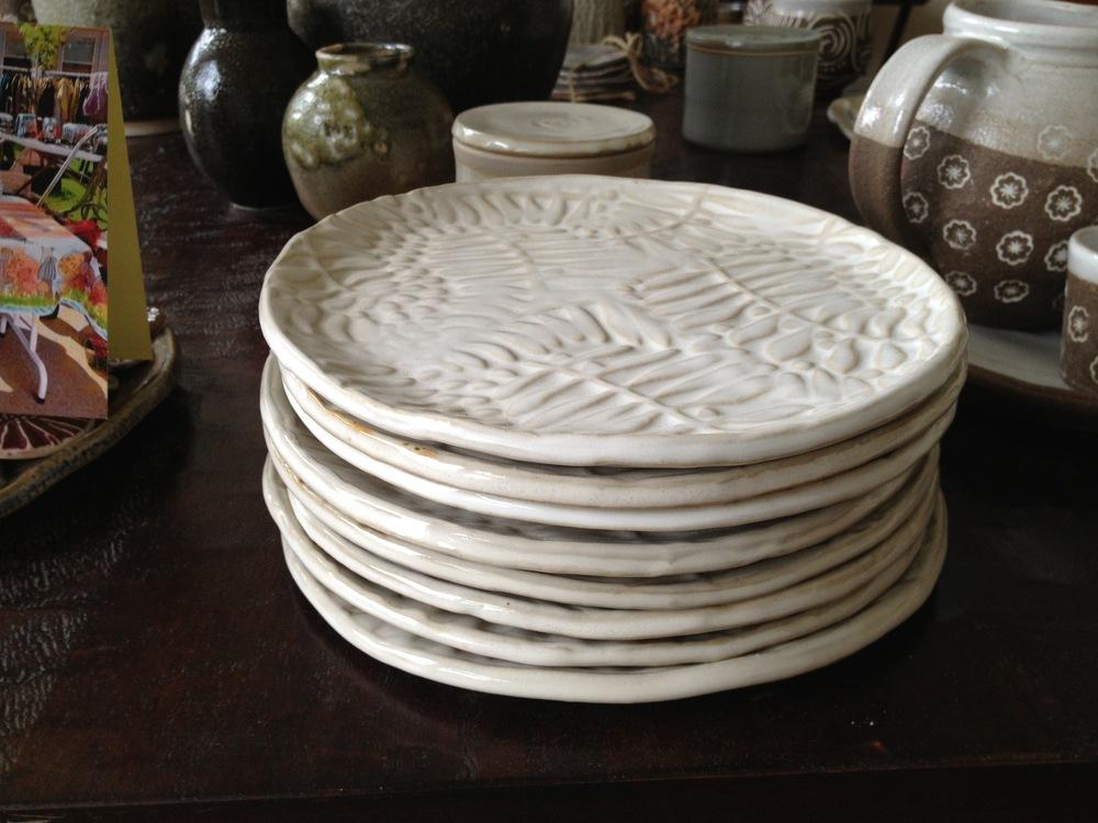 Fern slab plates