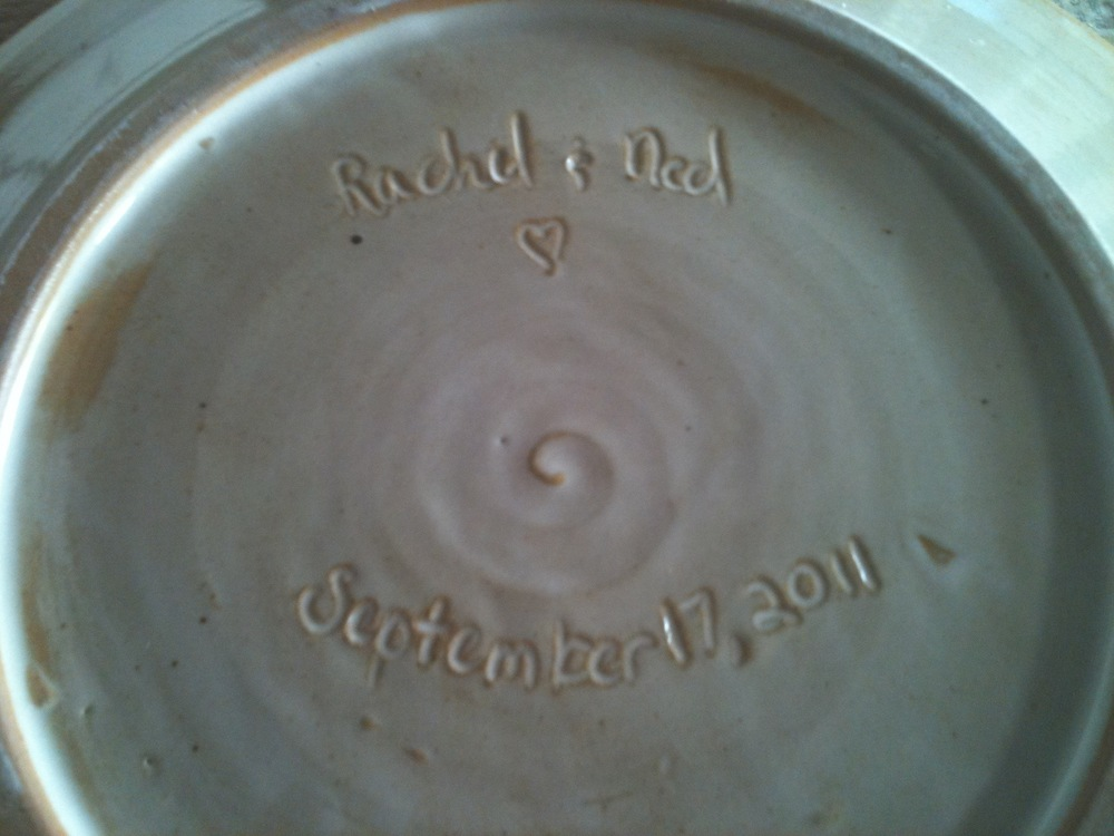 Personalized dinner plate