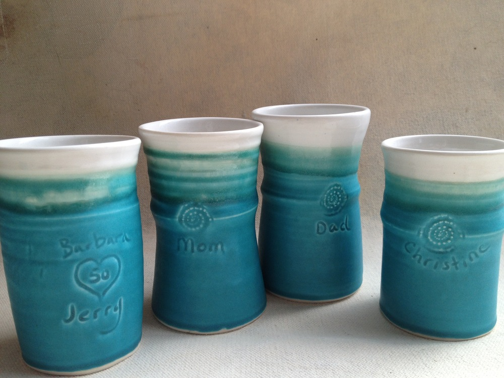 Commemorative tumblers for a 50th Anniversary