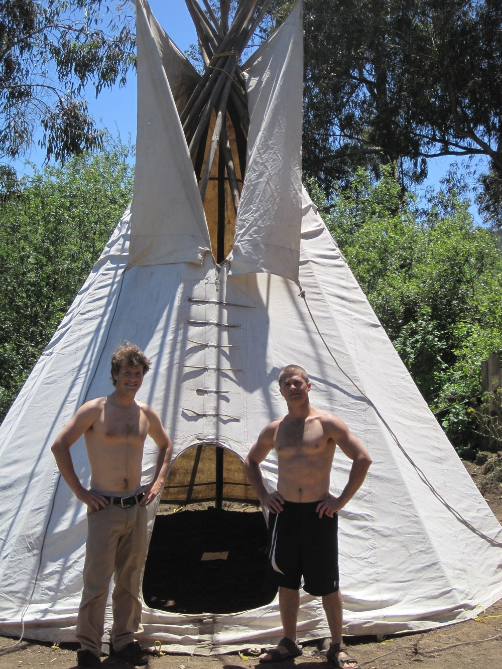 My boys and the teepee