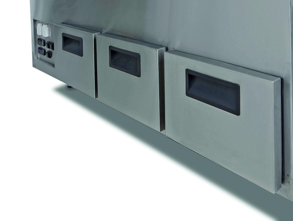 KYLDA LÅDOR För extra kylförvaring kan diskarna utrustas med lådor