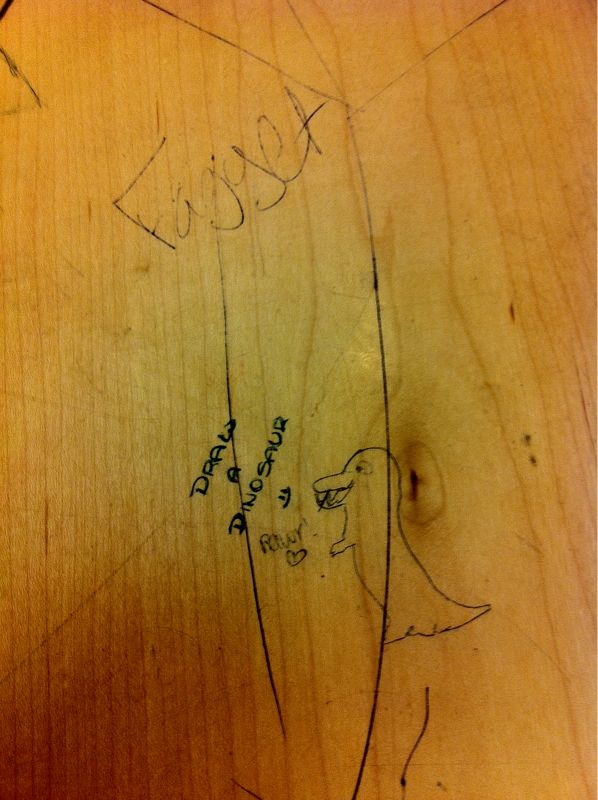 "Desk Art:  ""Fagget Rawr"""