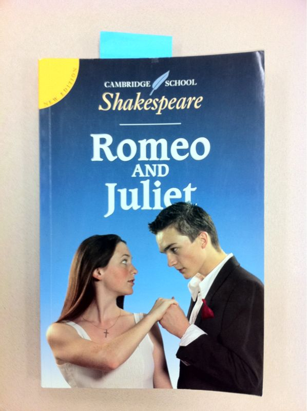 "Notes from the field:  I don't think I could come up with a worse cover for ""Romeo & Juliet"" if I had to."