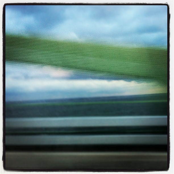 Car ride abstraction (Taken with instagram)