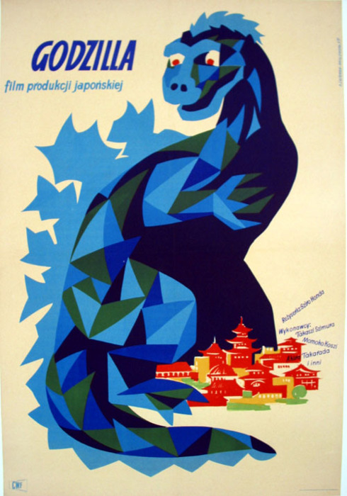 The Polish Godzilla seems so much more modernist than the Japanese Godzilla.    nocontxt :     Polish Godzilla Poster