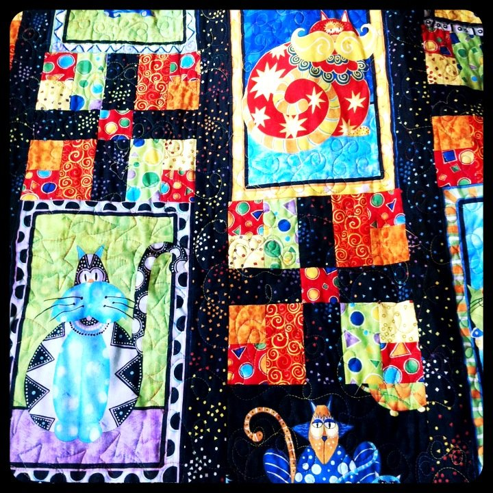Kid Quilt  A small section of the #quilt made by my wife's aunt for the birth of the baby. #art #color #craft #quilt (from  @mrknuffke  on Streamzoo)