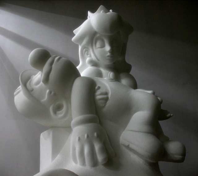 Evoking the heroic saga of the age, apparently in styrofoam.    via   www.boingboing.net