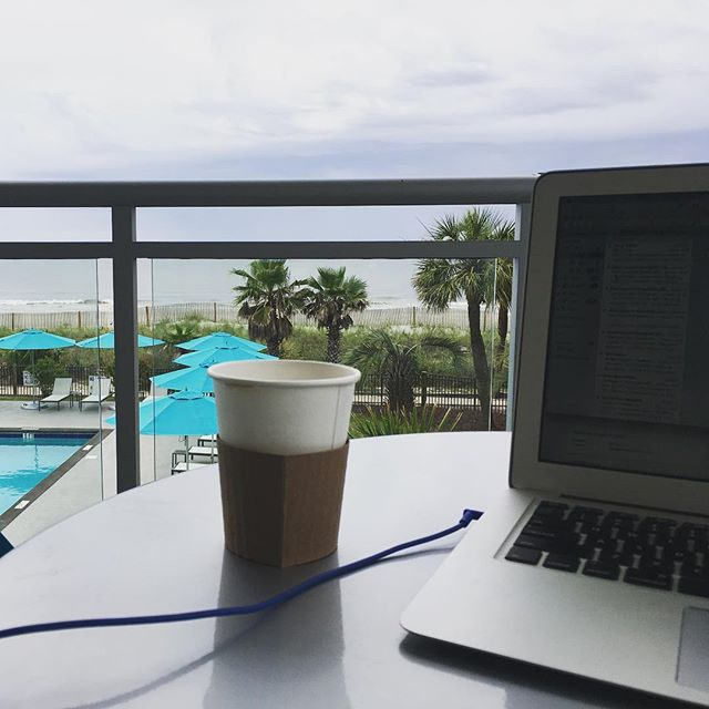 Not a bad place to get some work done before the last day of camp starts!  The whole week has been great, but Yesterday may have been a turning point for a lot of these students in their walks with Jesus. Many of them started seeing breakthrough in their lives, faith, desire to worship, and their desire to live for Gods glory. Pumped to see what today holds!! #worship #chrisallenband #jesusisgreater