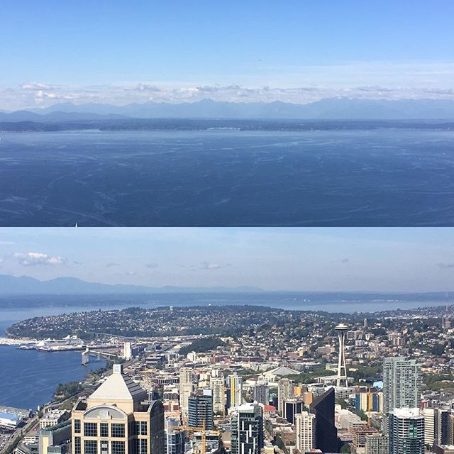 Enjoying our first few days on the West Coast.  Can't wait to keep exploring and enjoying the culture and beauty out here! #vacation #rest #refreshing #columbiacenter #seattle #views