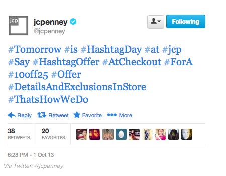 JC Penney hashtag abuser