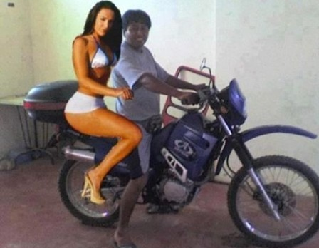 About to go for ride on my new bike with my beautiful girlfriend #donthate