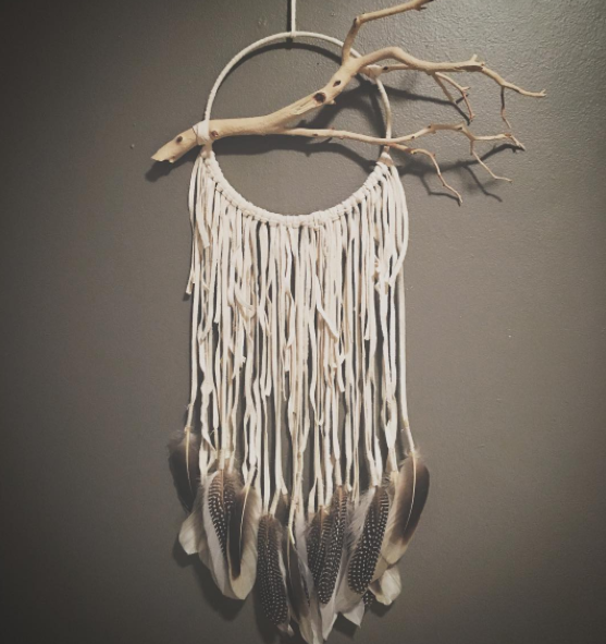 Handmade dreamcatchers inspired by the American West.