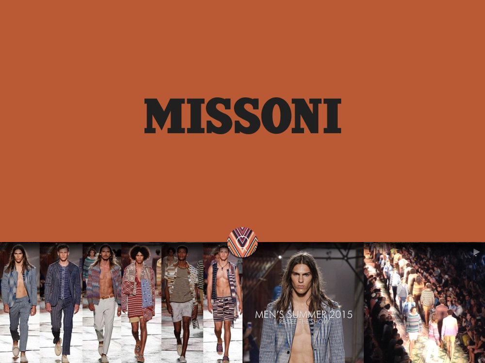 Screenshot from the Missoni look book test…
