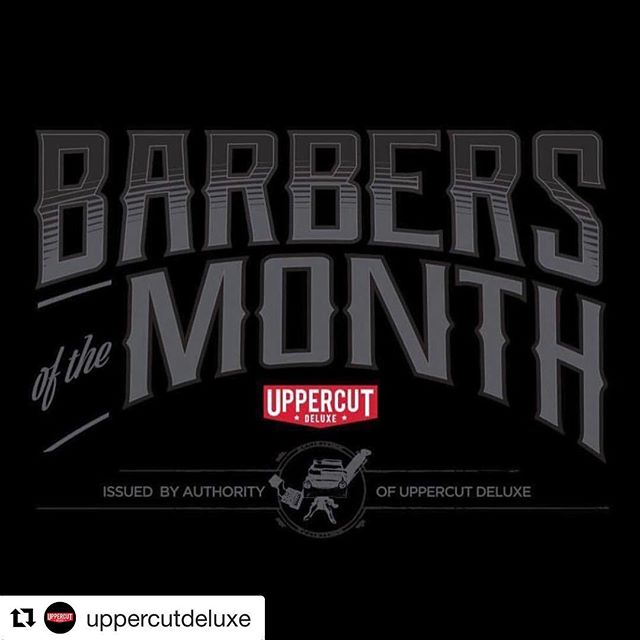 Proud to be chosen as Barbers of the month from Uppercut Deluxe! We've been stocking this great product for almost five years and love seeing them grow from a simple range into a global brand with such a strong impact on the barbering industry.
