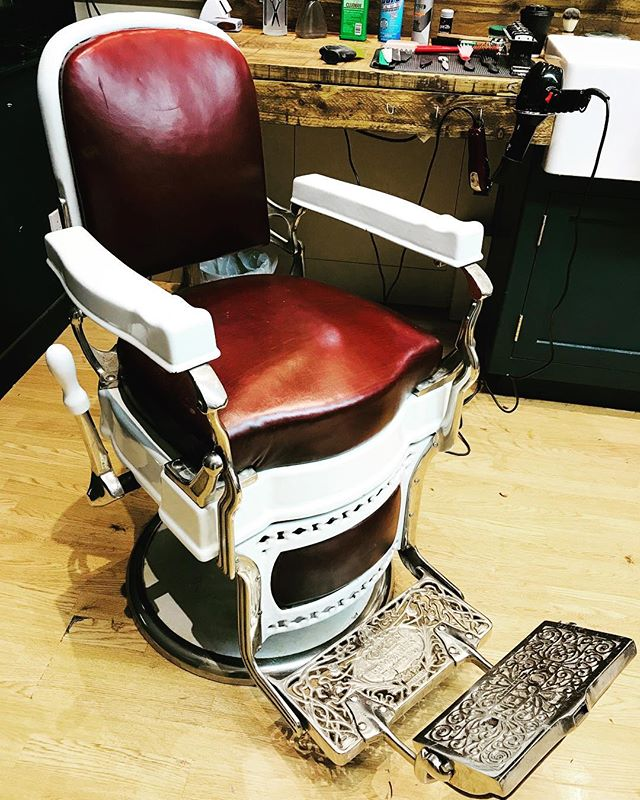 SUPER RARE BARBER CHAIRS FOR SALE!  I am putting these stunning chairs on eBay on Sunday and thought I'd put them out to the barber community on here first. Only being sold due to the new shop being kitted out with a whole set of new chairs and the existing ones will be used down at the Hove shop instead. DM for details on these beauties.