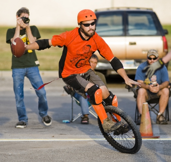 Unicycle Football in San Marcos