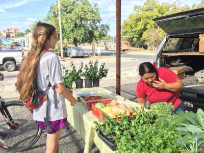 Did you know that every Tuesday from 3-6 p.m. there's a local farmer's market behind The Hitch? Pretty cool stuff.