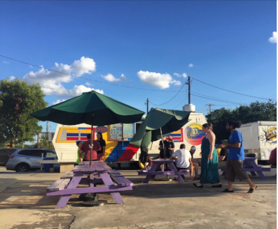 There's not a place in South Texas where you can find Colombian food, BBQ, Pita's, Italian Pork Roast, homemade burgers and shaved-ice all in the same location. We keep it San Marvelous.