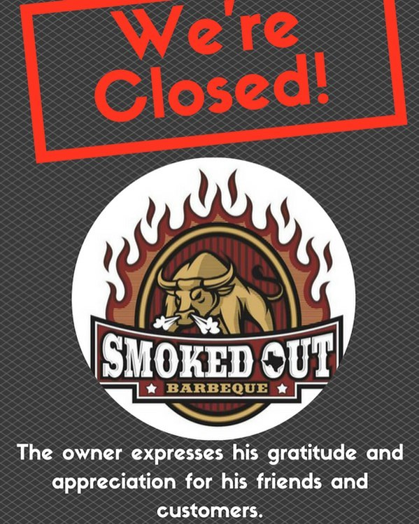 We're sad to announce that Smoked Out Barbeque will be closing permanently. Brandon, the owner, thanks all the friends and customers over the years at #thehitchsm. However, this isn't goodbye. Be on the lookout for his restaurant Bibeau's Chicken in 2018.