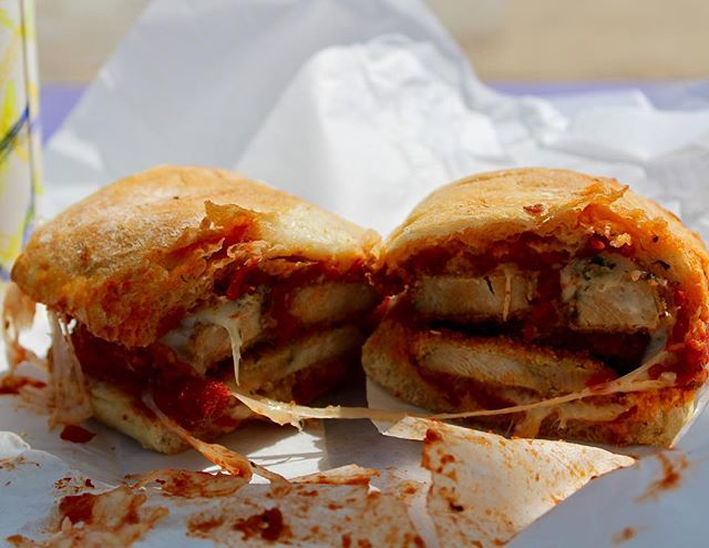 It's almost Friday! Celebrate with the porchetta parmesan sandwich from WANderLust!