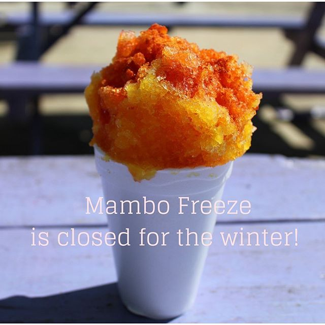 Sorry Hitchers, it's that time of year again. @mambo_freeze is closed for the winter.