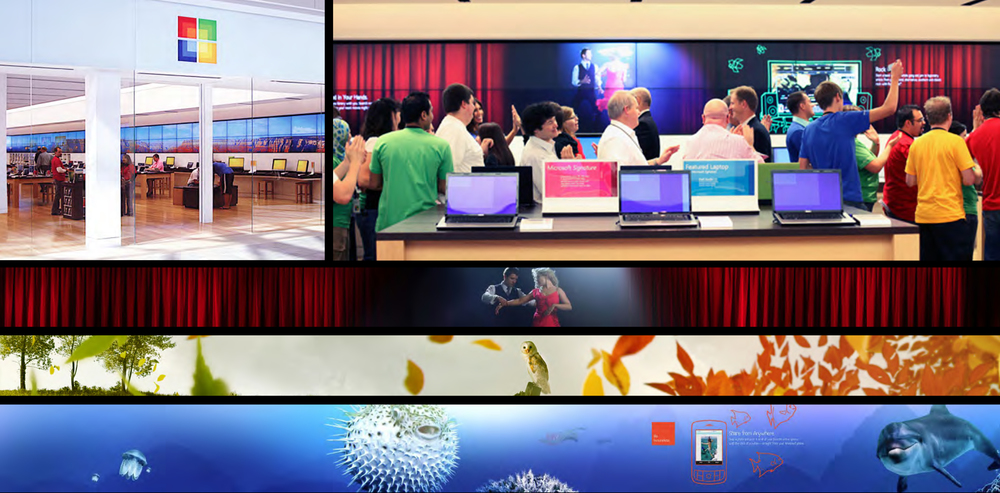 MICROSOFT STORE EXPERIENCE. ROLE: HEAD OF CREATIVE / EXEC. CREATIVE DIRECTOR: MATT MULDER