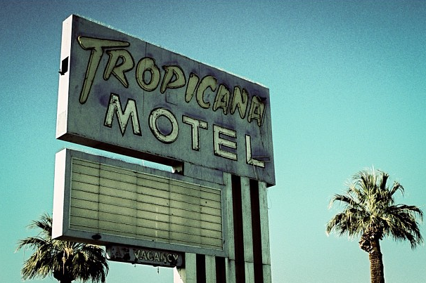 Motel sign outside Yuma, AZ.