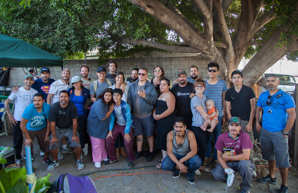 Cast and crew on set in TJ.