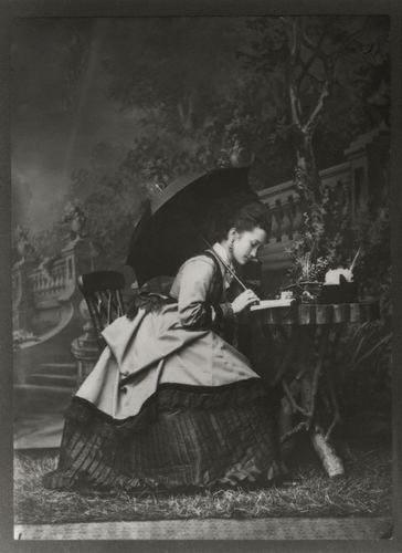 darksilenceinsuburbia :      charlottecorday :      runawayrose :     Late 1860s. Adelaide Fanny Louise Barber (née Bassano).