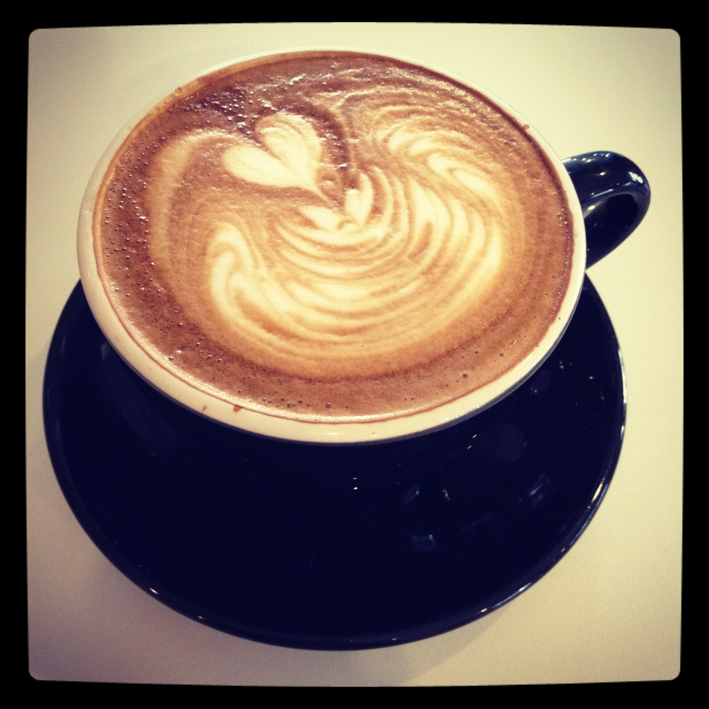 """I should really stop taking photos of my coffee. Check out """"Espresso Profeta"""" in Westwood, Los Angeles. Near UCLA."""