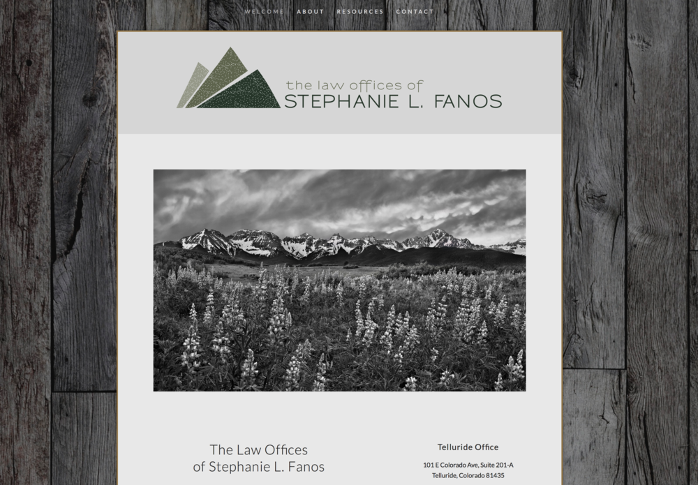 Website for the Law Offices of Stephanie L. Fanos