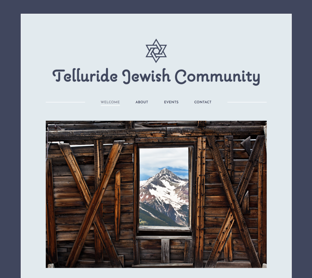 Website for the Telluride Jewish Community