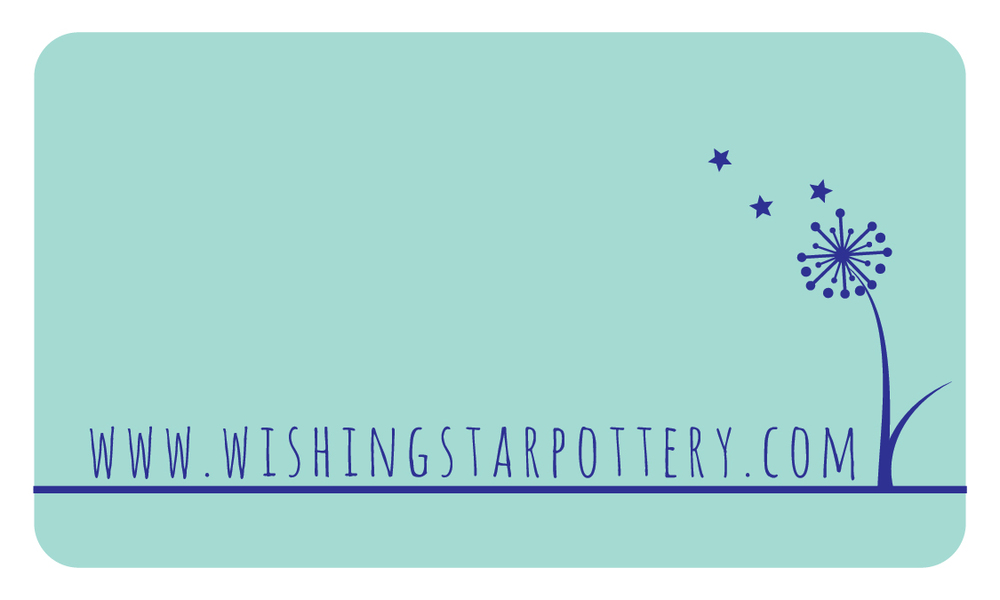 Wishing Star Pottery Business Card Back