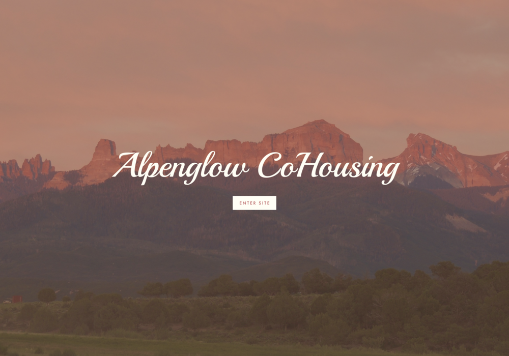 Alpenglow Co Housing Website